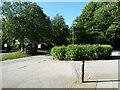 NY2723 : Car park entrance, Keswick Station Car Park by Adrian Taylor