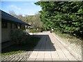 NY2723 : Path beside Keswick Leisure Pool by Adrian Taylor