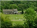 SE1740 : Esholt cricket ground from above by Stephen Craven