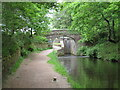 SE0915 : Canal towpath near Linthwaite, Huddersfield by Malc McDonald