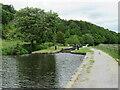 SE0914 : Canal lock near Linthwaite by Malc McDonald