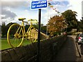 SK2692 : Yellow bicycle, the Sands, Low Bradfield by Alan Paxton