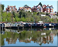 SO8553 : Canal boats moored at Worcester by Mat Fascione