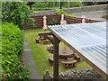 NT2540 : Garden seating, Coltmans Peebles by Jim Barton
