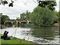 SP2054 : Fishing in the River Avon by Richard Humphrey