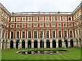 TQ1568 : Hampton Court Palace - Fountain Court by Martin Tester