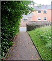 SO4910 : Path from churchyard to road, Mitchel Troy, Monmouthshire by Jaggery