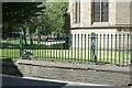 SK3871 : Churchyard railings, Chesterfield by Alan Murray-Rust