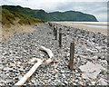 SH7679 : Decaying sea defences, Conwy Morfa by Andy Waddington