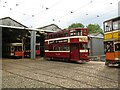 SK3454 : National Tramway Museum depot by Adrian Taylor