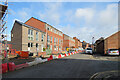 SK5738 : The Meadows: new houses on Wilford Crescent East by John Sutton