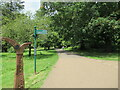 ST1777 : Footpath and sign in Bute Park Cardiff by Roy Hughes