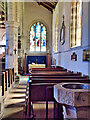 SE0989 : Wensley Church (interior) by David Dixon