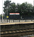 ST1479 : Welsh-only name sign on Llandaf railway station, Cardiff by Jaggery