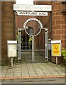 NS5468 : Entrance to Anniesland Hall by Richard Sutcliffe