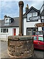 NX7790 : Old Wayside Cross in Moniaive market place by W MacDonald