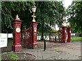 NS5467 : Gates to Victoria Park by Richard Sutcliffe