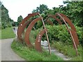 NZ3162 : Art installation beside the Bowes Railway Path by Oliver Dixon