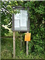 TL8838 : Village Notice Board on Applecroft Farm Road by Geographer