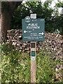 SK1467 : Peak & Northern Footpaths Society, Sign No 377 by Philip Cornwall