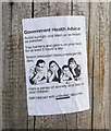 J5080 : 'Anti-vax' message, Bangor by Rossographer