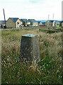 SE1018 : Triangulation pillar off Crosland Road, Lindley  by Humphrey Bolton