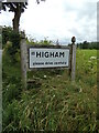 TM0235 : Higham Village Name sign by Geographer