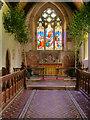 SE3092 : Altar and East Window, St Radegund's Church by David Dixon