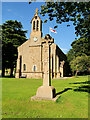 SE2489 : War Memorial and the Church of St Gregory, Great Crakehall by David Dixon