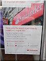 SU9676 : Closure Notice at Santander Bank, Windsor by David Hillas