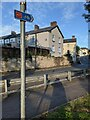 ST3089 : Cycle Route 47 direction sign, Barrack Hill, Newport by Jaggery
