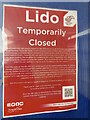 SX9473 : Teignmouth Lido temporarily closed by Robin Stott