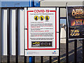 J5980 : Covid notice, Donaghadee by Rossographer