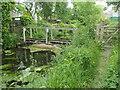 SD3778 : Unusable footbridge across the River Eea, Cartmel by Christine Johnstone