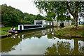 SJ8254 : Canal wharf and boatyard near Red Bull by Roger  Kidd
