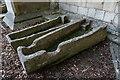 TL1998 : Sarcophagi 12th Century, Peterborough Cathedral by Brian Deegan