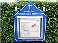SU8799 : Information Board at Holy Trinity Church by David Hillas