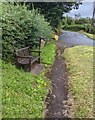 SO4200 : Wooden bench in Llangwm, Monmouthshire by Jaggery