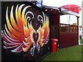 SP3378 : Winged heart mural, Assembly Festival Garden, Coventry by Alan Paxton