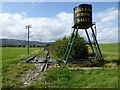 SO8040 : Water tank and railway, Welland by Philip Halling