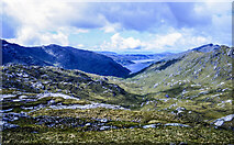 NM9095 : Rock plated ground south-west of Garbh Chioch Mhòr by Trevor Littlewood