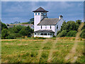 NY0565 : Farmhouse Observation Tower, Caerlaverock Wetland Centre by David Dixon