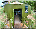 NX9978 : Anderson Shelter at Dumfries and Galloway Aviation Museum by David Dixon