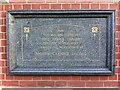 SP3481 : Plaque on Broad Street Library, Foleshill, Coventry by Alan Paxton