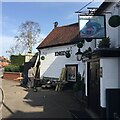 SP2972 : Making a deck, The Engine public house, Mill End, Kenilworth by Robin Stott