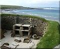 HY2318 : Skara Brae - Dwelling No.1 - The 'cupboard' by Rob Farrow