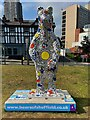 SK3586 : Bears of Sheffield: #32 Plants & Bees by Graham Hogg