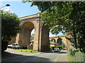 SZ0692 : Arches over Surrey Road, Branksome, near Poole by Malc McDonald