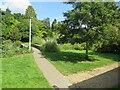 SZ0692 : Path in Coy Pond Gardens, Branksome, near Bournemouth by Malc McDonald