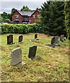 SO4910 : Northwest corner of the churchyard, Mitchel Troy, Monmouthshire by Jaggery